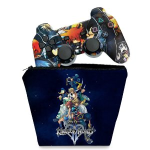 KIT Capa Case e Skin PS2 Controle - Kingdom Hearts II 2