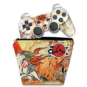 KIT Capa Case e Skin PS2 Controle - Okami