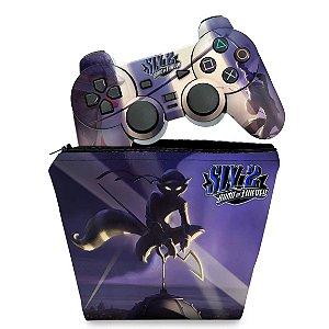 KIT Capa Case e Skin PS2 Controle - Sly 2