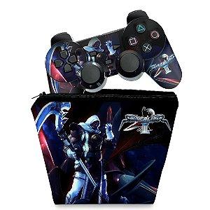KIT Capa Case e Skin PS2 Controle - SoulCalibur III