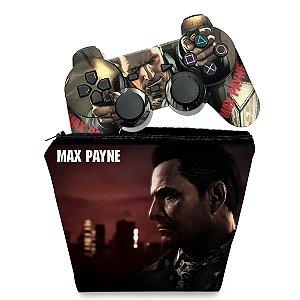 KIT Capa Case e Skin PS2 Controle - Max Payne
