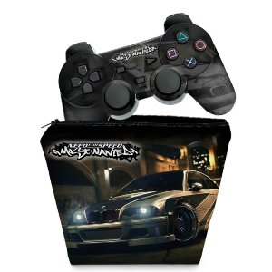KIT Capa Case e Skin PS2 Controle - Need for Speed: Most Wanted