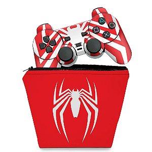 KIT Capa Case e Skin PS2 Controle - Spider-man Homem-Aranha