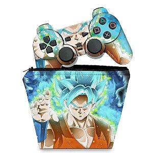 KIT Capa Case e Skin PS2 Controle - Dragon Ball Super