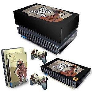 KIT PS2 Fat Skin e Capa Anti Poeira - GTA San Andreas