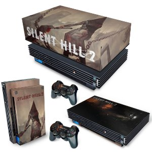 KIT PS2 Fat Skin e Capa Anti Poeira - Silent Hill 2