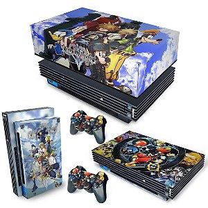 KIT PS2 Fat Skin e Capa Anti Poeira - Kingdom Hearts II 2