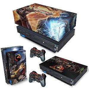 KIT PS2 Fat Skin e Capa Anti Poeira - Mortal Kombat