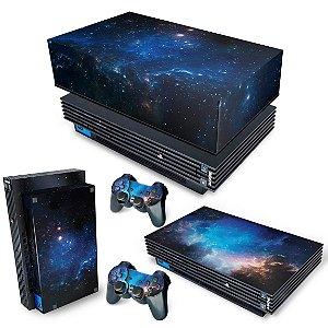 KIT PS2 Fat Skin e Capa Anti Poeira - Universo Cosmos