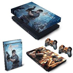 KIT PS2 Slim Skin e Capa Anti Poeira - Resident Evil 4