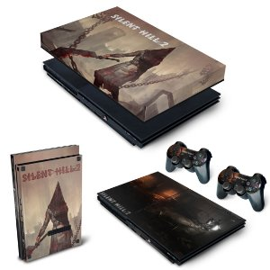 KIT PS2 Slim Skin e Capa Anti Poeira - Silent Hill 2