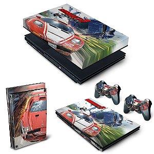 KIT PS2 Slim Skin e Capa Anti Poeira - Burnout 3