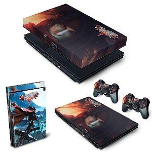 KIT PS2 Slim Skin e Capa Anti Poeira - Final Fantasy VII