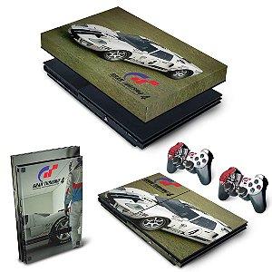 KIT PS2 Slim Skin e Capa Anti Poeira - Gran Turismo 4