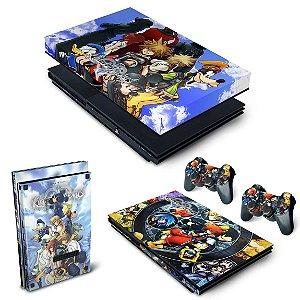 KIT PS2 Slim Skin e Capa Anti Poeira - Kingdom Hearts II 2