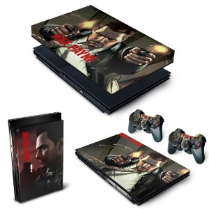 KIT PS2 Slim Skin e Capa Anti Poeira - Max Payne