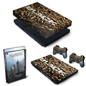 KIT PS2 Slim Skin e Capa Anti Poeira - Black
