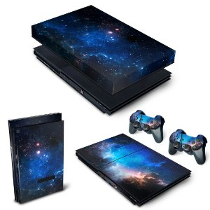 KIT PS2 Slim Skin e Capa Anti Poeira - Universo Cosmos