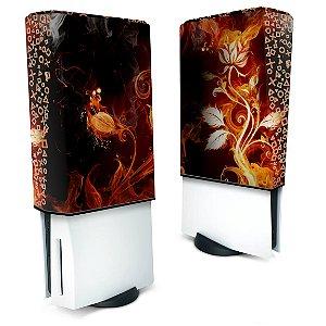 Capa PS5 Anti Poeira - Fire Flower