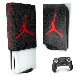 KIT PS5 Skin e Capa Anti Poeira - Jordan Flight