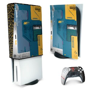 KIT PS5 Skin e Capa Anti Poeira - Cyberpunk 2077 Bundle