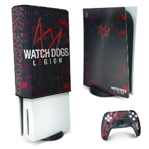 KIT PS5 Skin e Capa Anti Poeira - Watch Dogs Legion