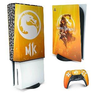 KIT PS5 Skin e Capa Anti Poeira - Mortal Kombat 11