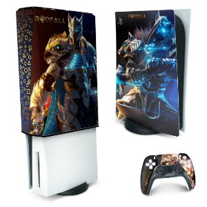 KIT PS5 Skin e Capa Anti Poeira - Godfall