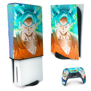 KIT PS5 Skin e Capa Anti Poeira - Dragon Ball Super