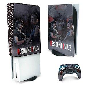 KIT PS5 Skin e Capa Anti Poeira - Resident Evil 3 Remake