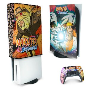 KIT PS5 Skin e Capa Anti Poeira - Naruto
