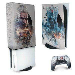 KIT PS5 Skin e Capa Anti Poeira - The Witcher 3