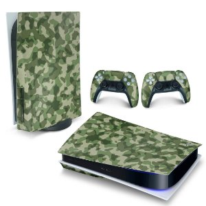Skin PS5 - Camuflado Verde