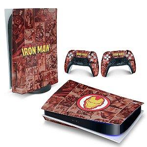 Skin PS5 - Homem De Ferro Comics