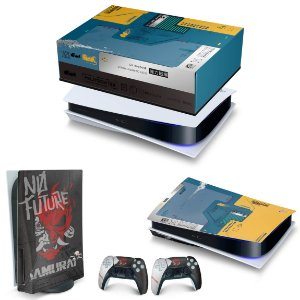 KIT PS5 Capa Anti Poeira e Skin -Cyberpunk 2077 Bundle