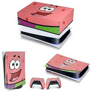 KIT PS5 Capa Anti Poeira e Skin -Patrick