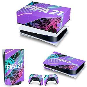 KIT PS5 Capa Anti Poeira e Skin -FIFA 21