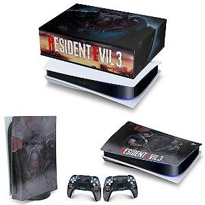 KIT PS5 Capa Anti Poeira e Skin -Resident Evil 3 Remake