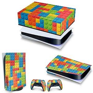 KIT PS5 Capa Anti Poeira e Skin -Lego Peça