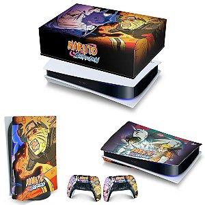 KIT PS5 Capa Anti Poeira e Skin -Naruto