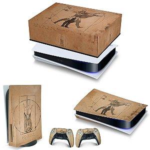 KIT PS5 Capa Anti Poeira e Skin -Assassin'S Creed Vitruviano