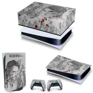 KIT PS5 Capa Anti Poeira e Skin -The Last Of Us Part II