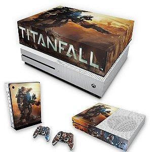 KIT Xbox One S Slim Skin e Capa Anti Poeira - Titanfall