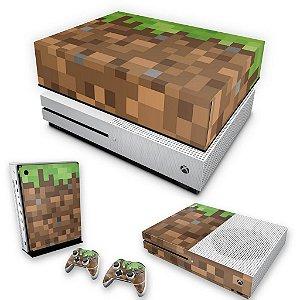 KIT Xbox One S Slim Skin e Capa Anti Poeira - Minecraft