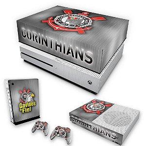KIT Xbox One S Slim Skin e Capa Anti Poeira - Corinthians