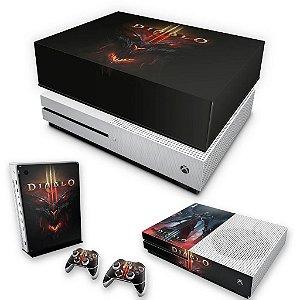 KIT Xbox One S Slim Skin e Capa Anti Poeira - Diablo