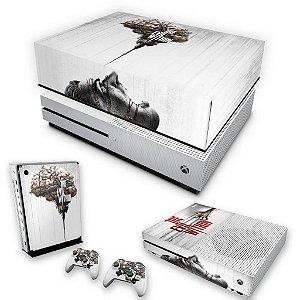 KIT Xbox One S Slim Skin e Capa Anti Poeira - The Evil Within