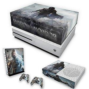 KIT Xbox One S Slim Skin e Capa Anti Poeira - Middle Earth: Shadow of Mordor