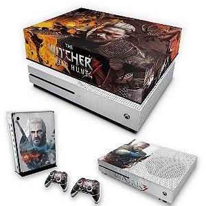KIT Xbox One S Slim Skin e Capa Anti Poeira - The Witcher 3 #B
