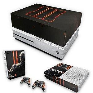 KIT Xbox One S Slim Skin e Capa Anti Poeira - Call of Duty Black Ops 3